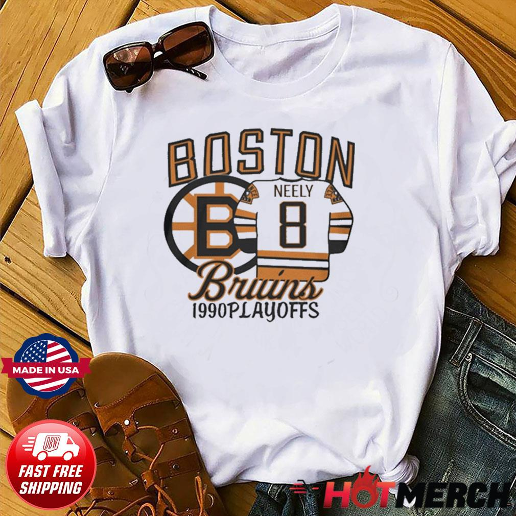 Boston Bruins 1990s Playoffs Neely 8 Shirt