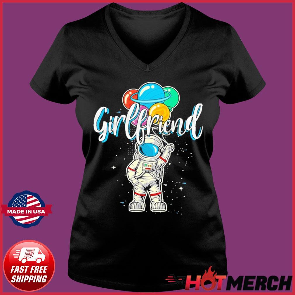 Girlfriend Birthday Astronaut in Space Lover T-Shirt – Girlfriend NASA's Mars 2020 T-Shirt Ladies V-neck Tee