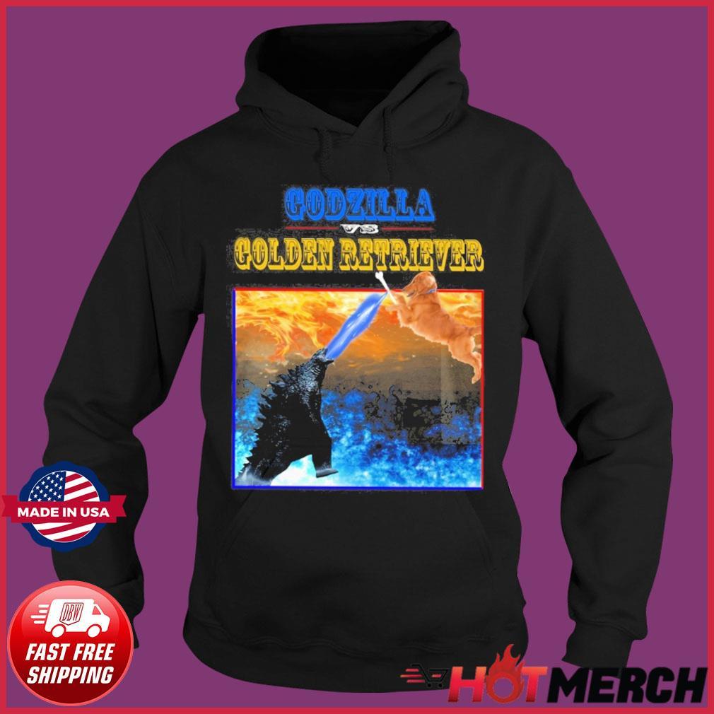 Godzilla Vs Golden Retriever With Godzilla Vs Kong Movie 2021 Shirt Hoodie
