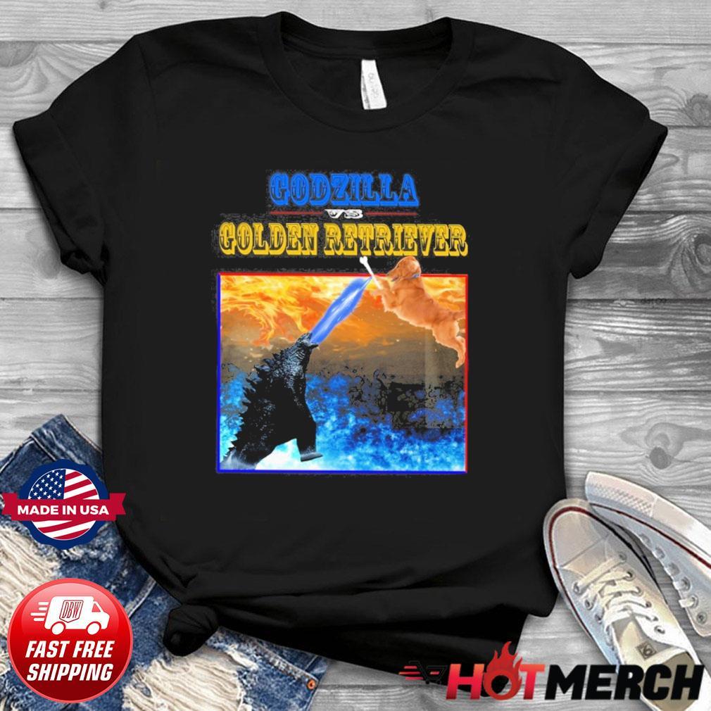 Godzilla Vs Golden Retriever With Godzilla Vs Kong Movie 2021 Shirt