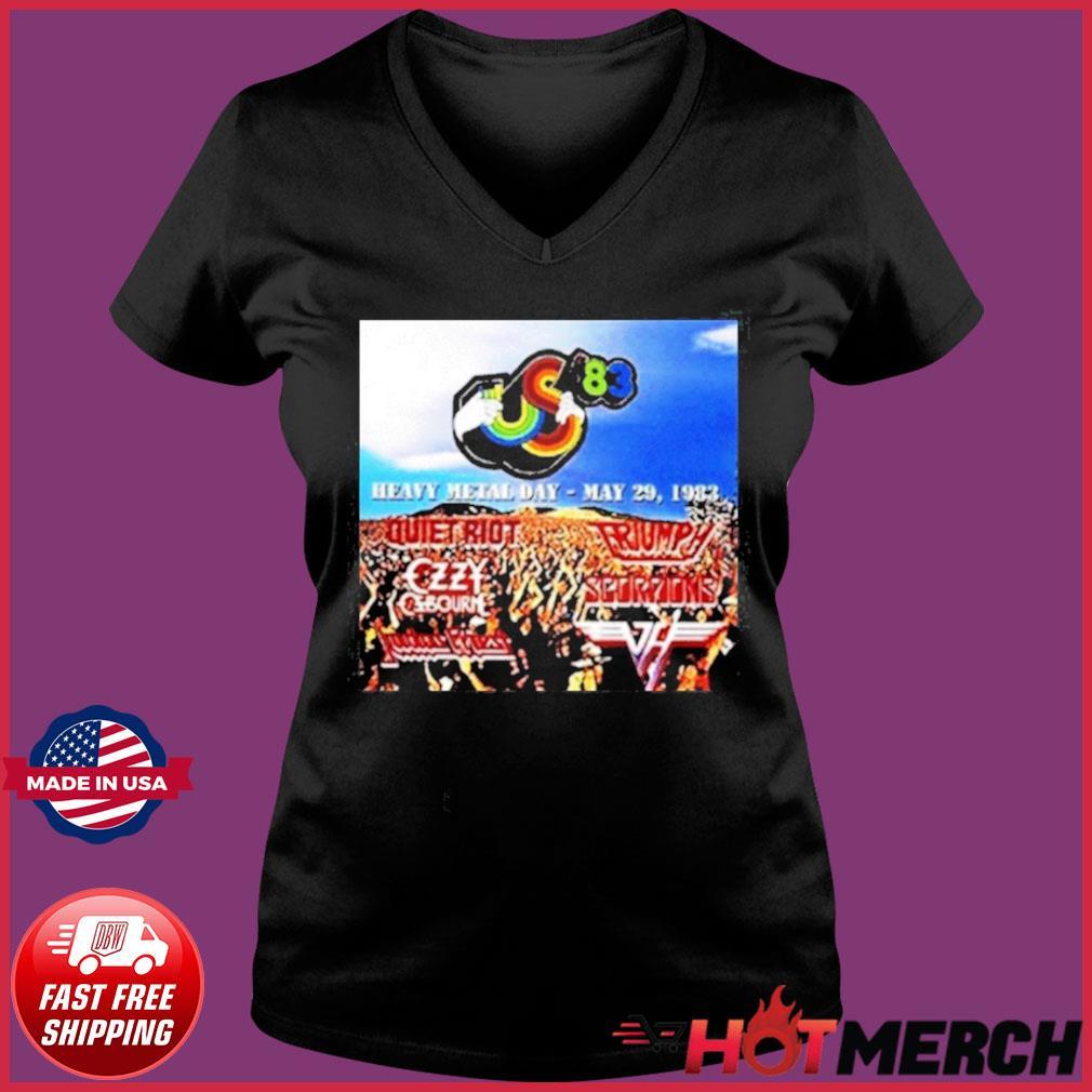 Heavy Metal Day – May 29 Festival 1983 Shirt Ladies V-neck Tee