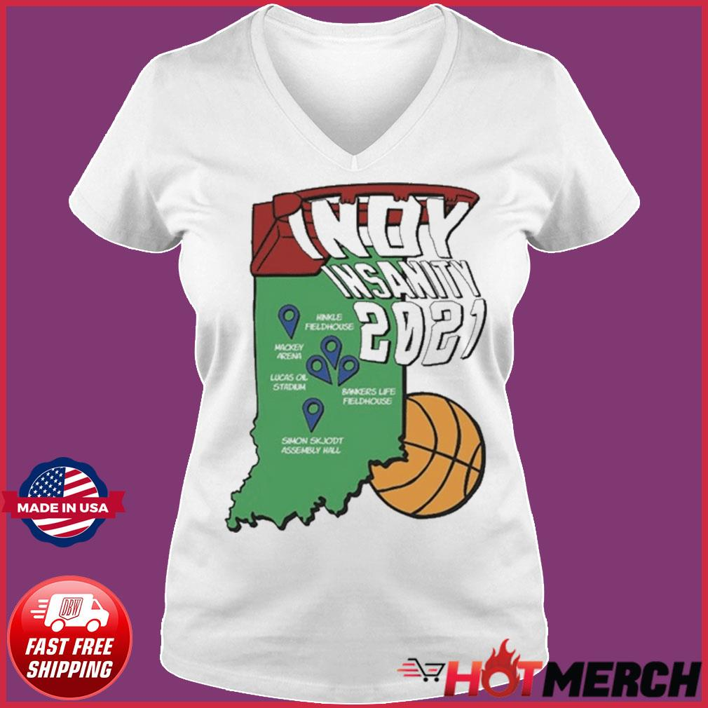 Indyinsanity 2021 Basketball T-s Ladies V-neck Tee