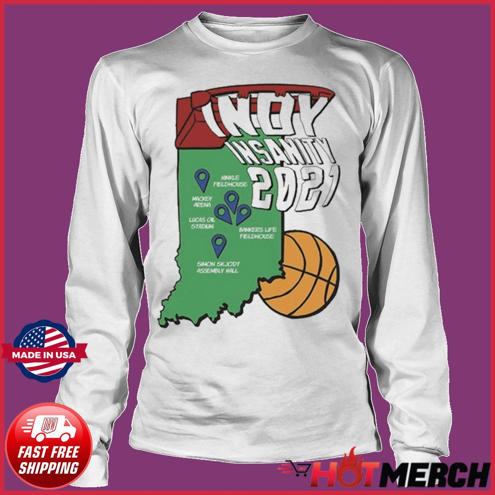 Indyinsanity 2021 Basketball T-s Long sleeve