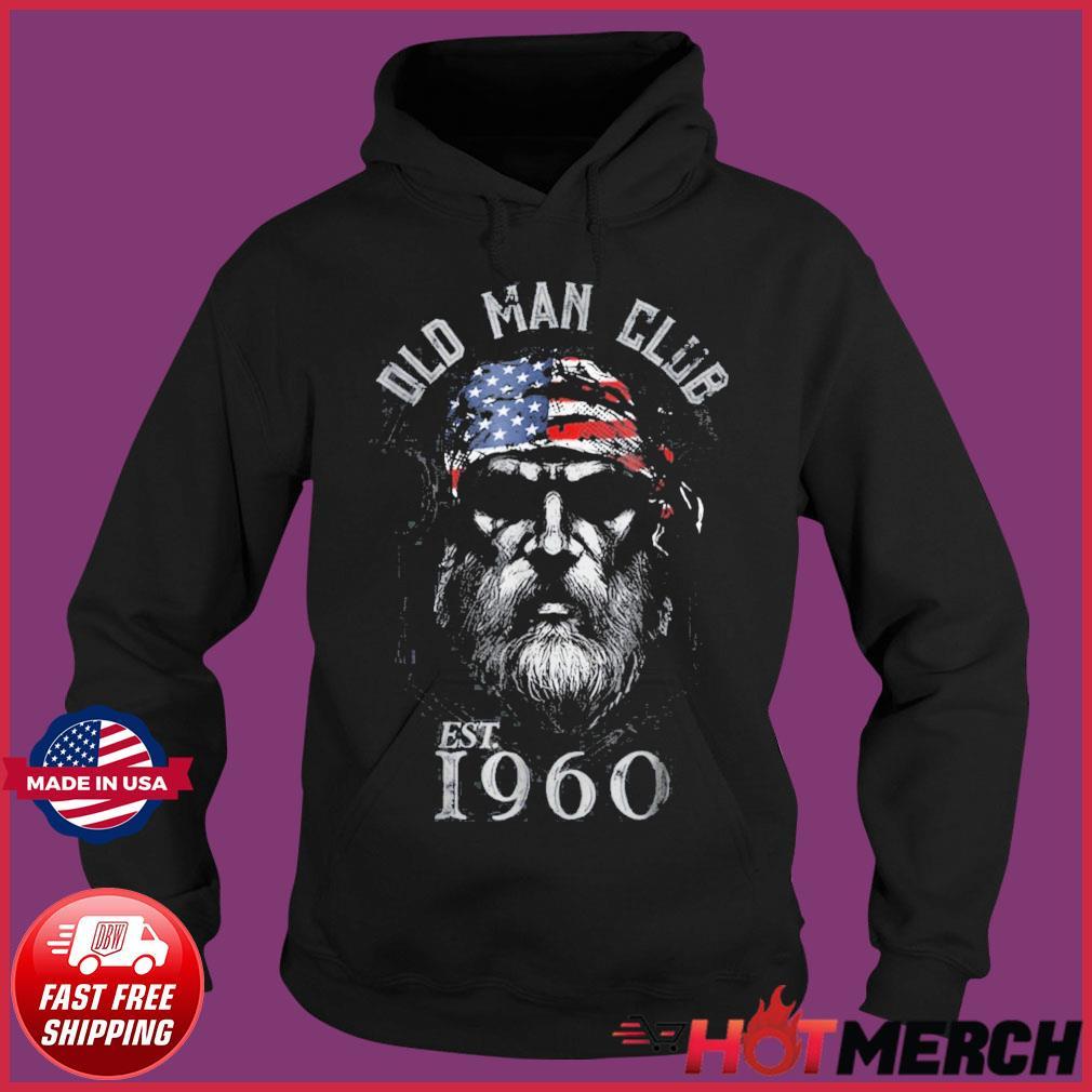 Mens Old Man Club Established 1960 Shirt Hoodie