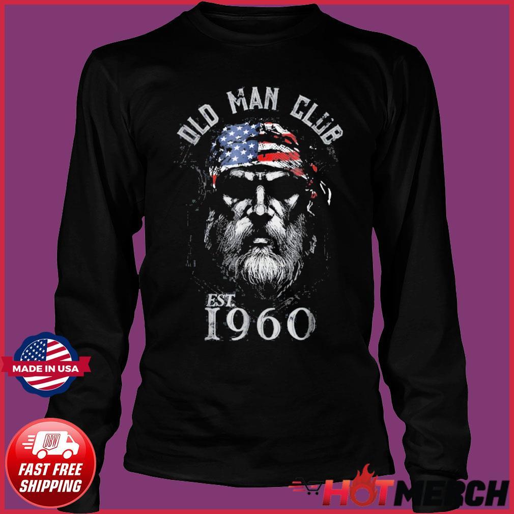 Mens Old Man Club Established 1960 Shirt Long Sleeve