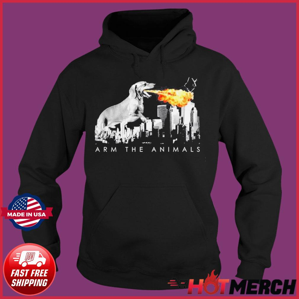 Official Dachshund Arm The Animals Godzilla Shirt Hoodie