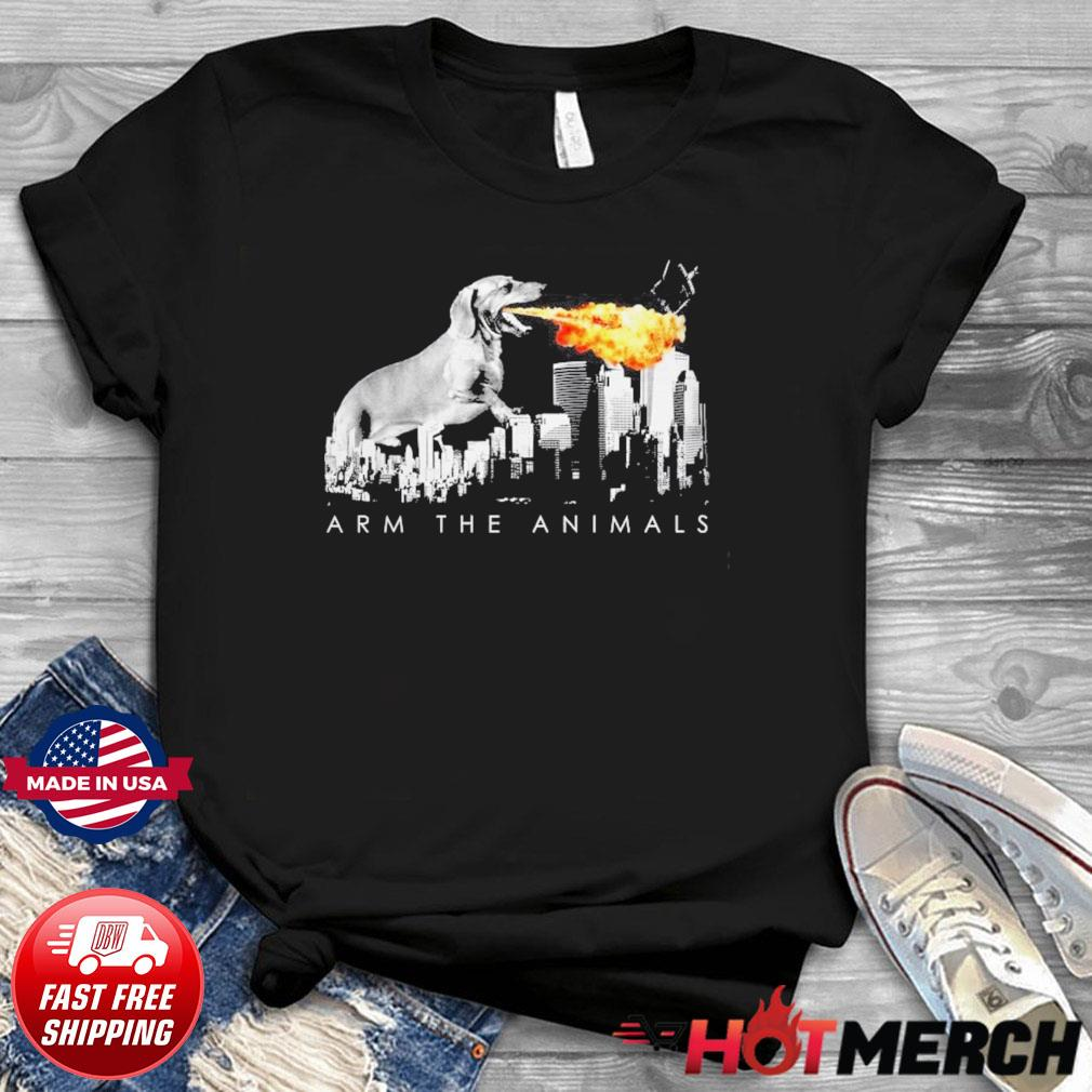 Official Dachshund Arm The Animals Godzilla Shirt