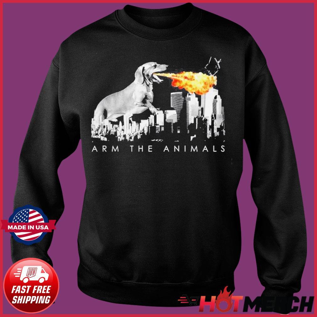 Official Dachshund Arm The Animals Godzilla Shirt Sweater