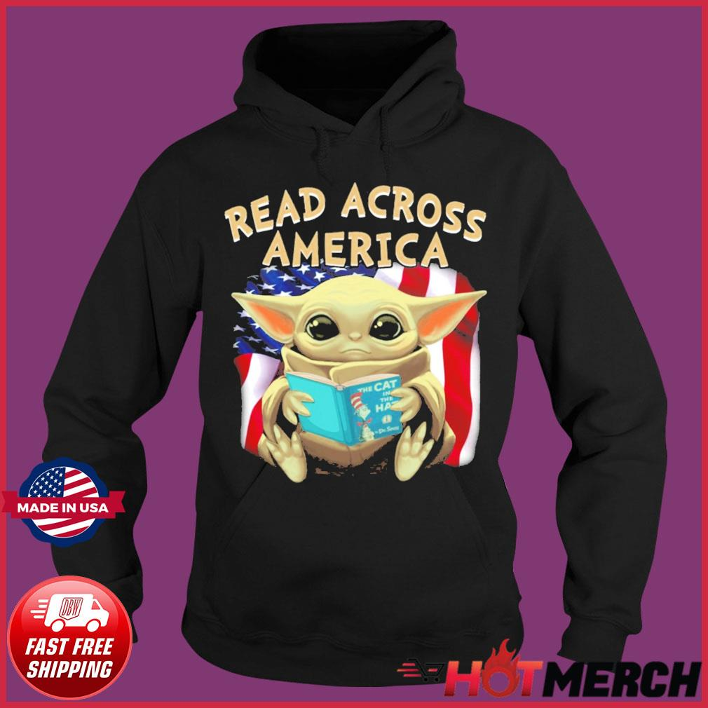 Official Star Wars Baby Yoda Read Across America Flag Shirt Hoodie