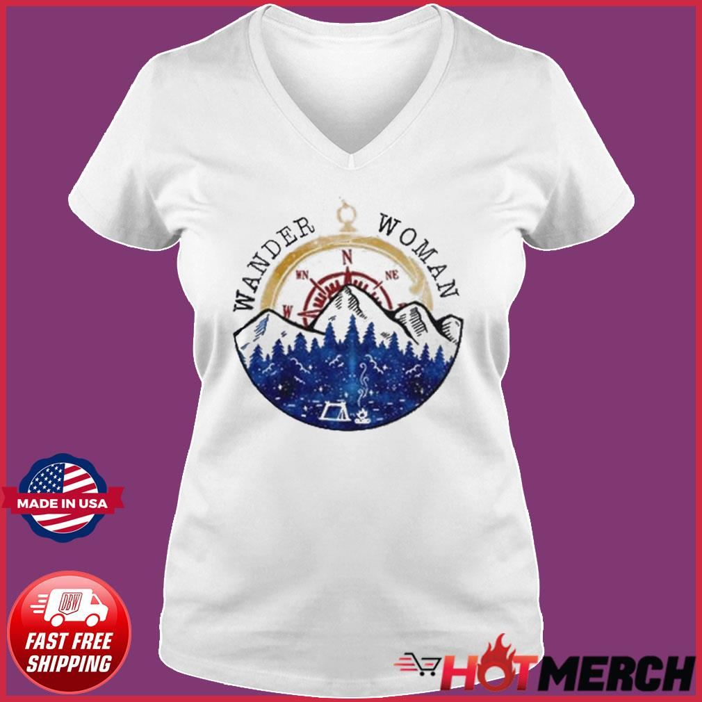 Oficial Wander Woman Hiking Camping Lover Shirt Ladies V-neck Tee
