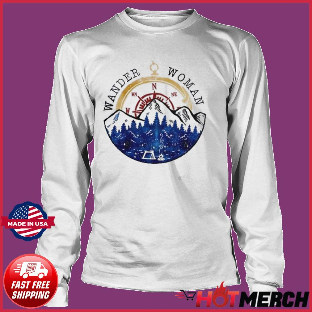Oficial Wander Woman Hiking Camping Lover Shirt Long sleeve
