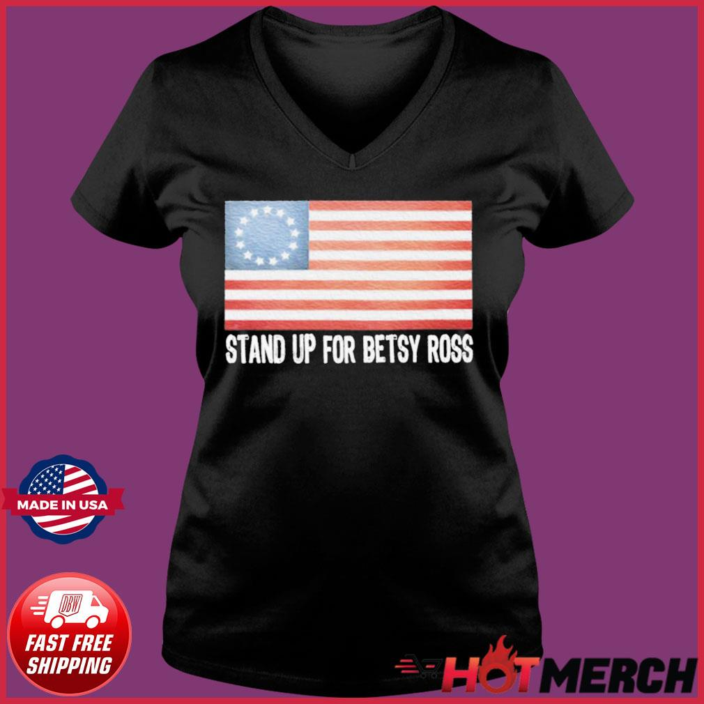 Rush Limbaugh American Flag Stand Up For Betsy Ross Shirt Ladies V-neck Tee