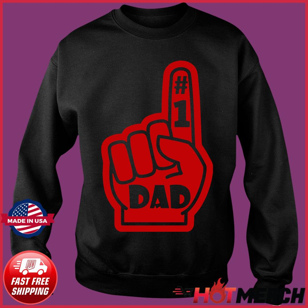 #1 Dad Number One Father's Day Shirt Sweater