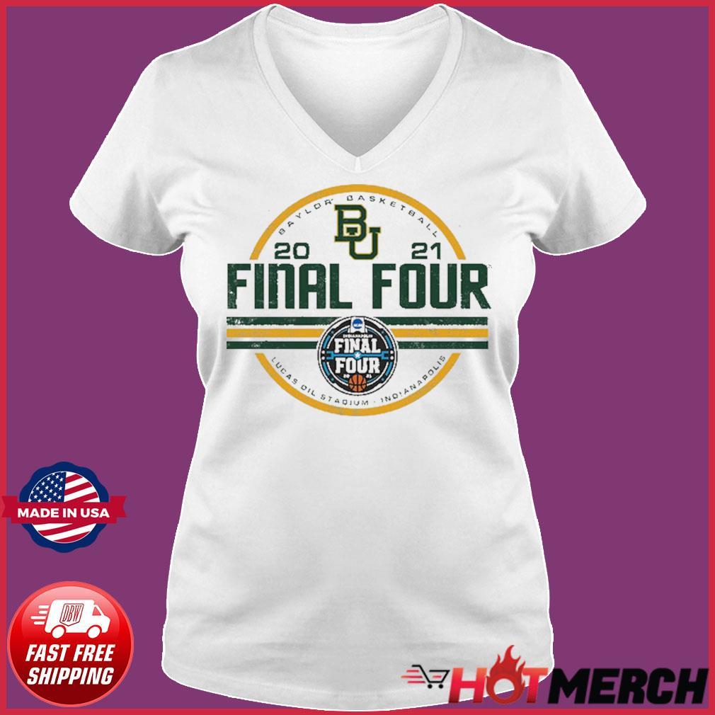 Baylor Bears BU With Baylor Basketball 2021 Final Four Shirt Ladies V-neck Tee