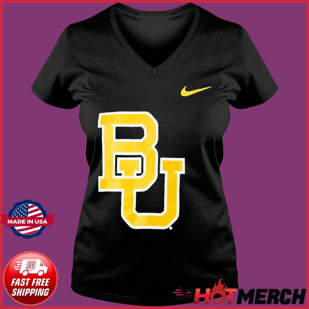 Nike Baylor Bears Logo Legend Performance T-Shirt Ladies V-neck Tee
