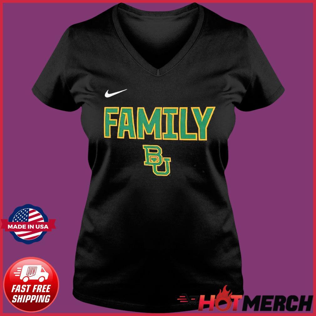 Nike BU Baylor Bears 2021 NCAA Men's Basketball Tournament March Madness Final Four Bound Family Legend Shirt Ladies V-neck Tee