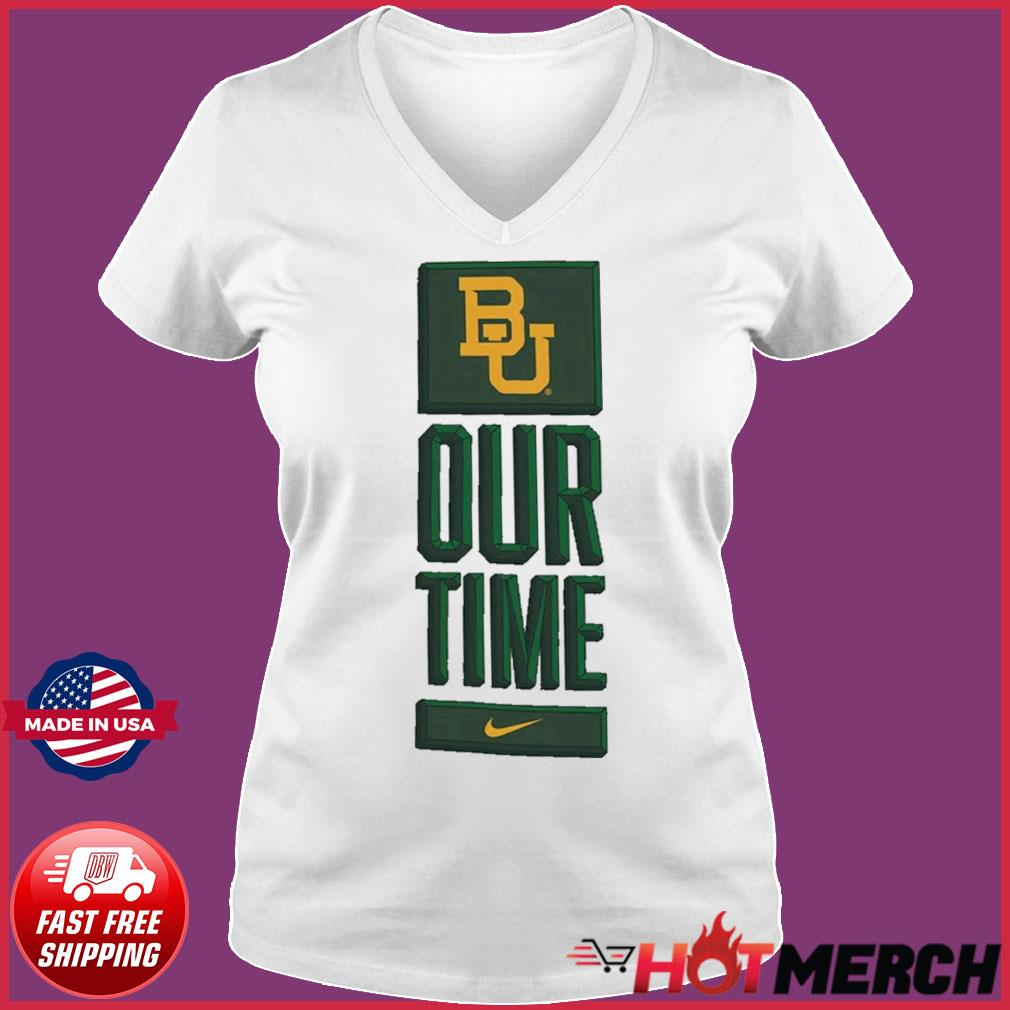 Nike BU Baylor Bears Basketball Our Time Bench Legend Performance Shirt Ladies V-neck Tee