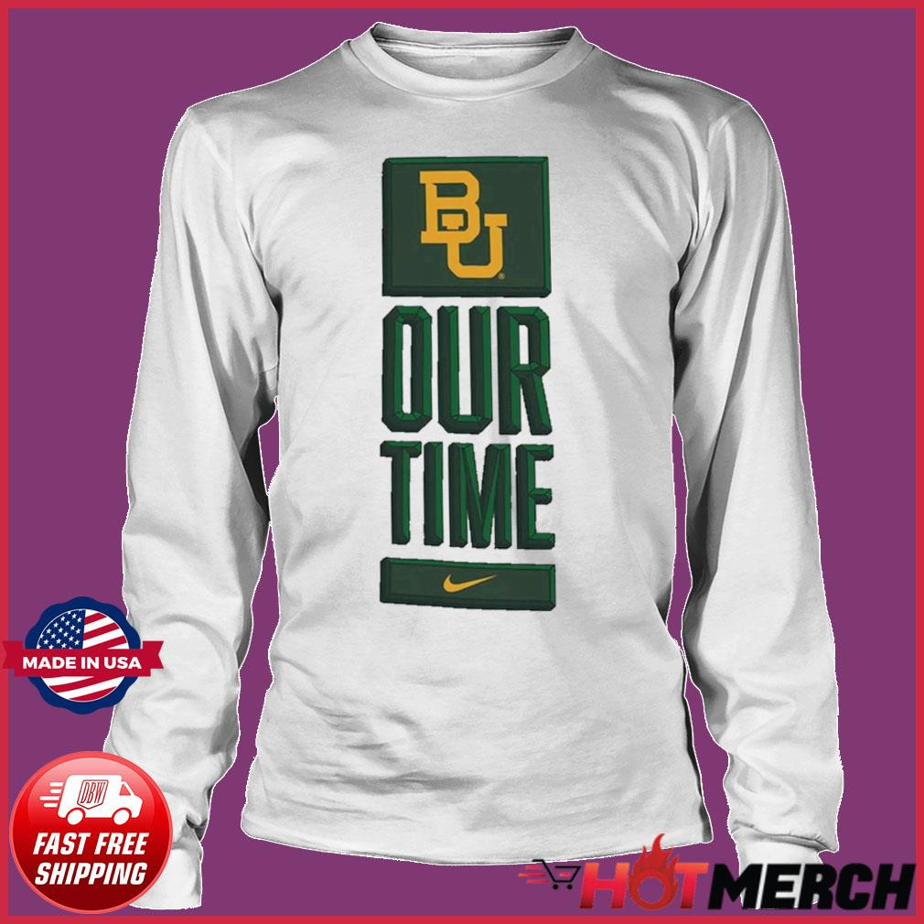 Nike BU Baylor Bears Basketball Our Time Bench Legend Performance Shirt Long sleeve