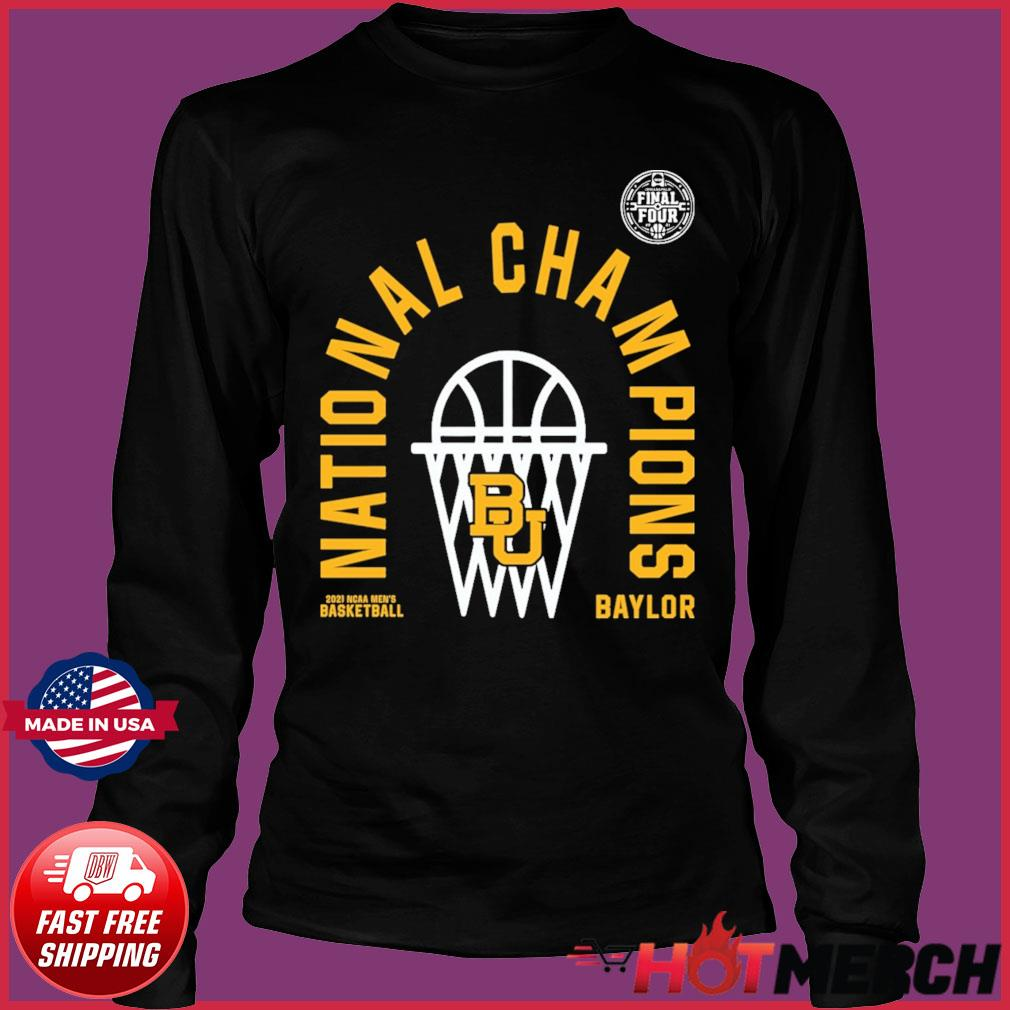 Official BU Baylor Bears 2021 NCAA Men's Basketball National Champions Arc Velocity Shirt Long Sleeve