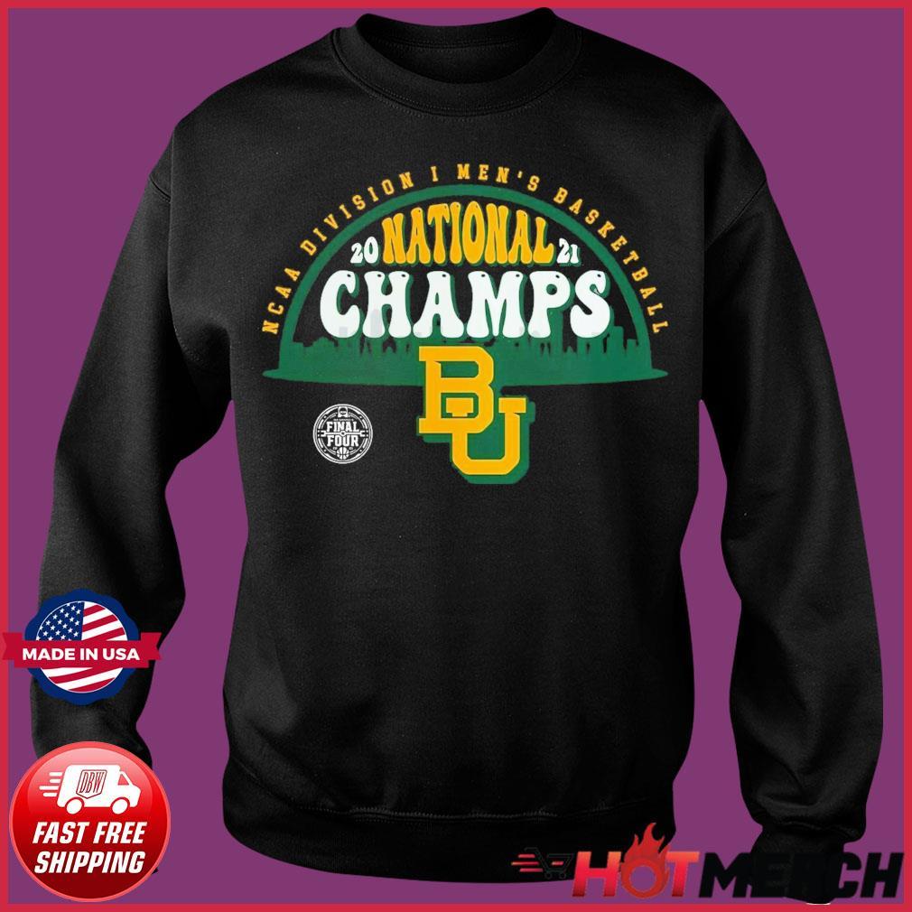 Official BU Baylor Bears1 2021 Basketball National Champions Screen Space Dye1 Shirt Sweater