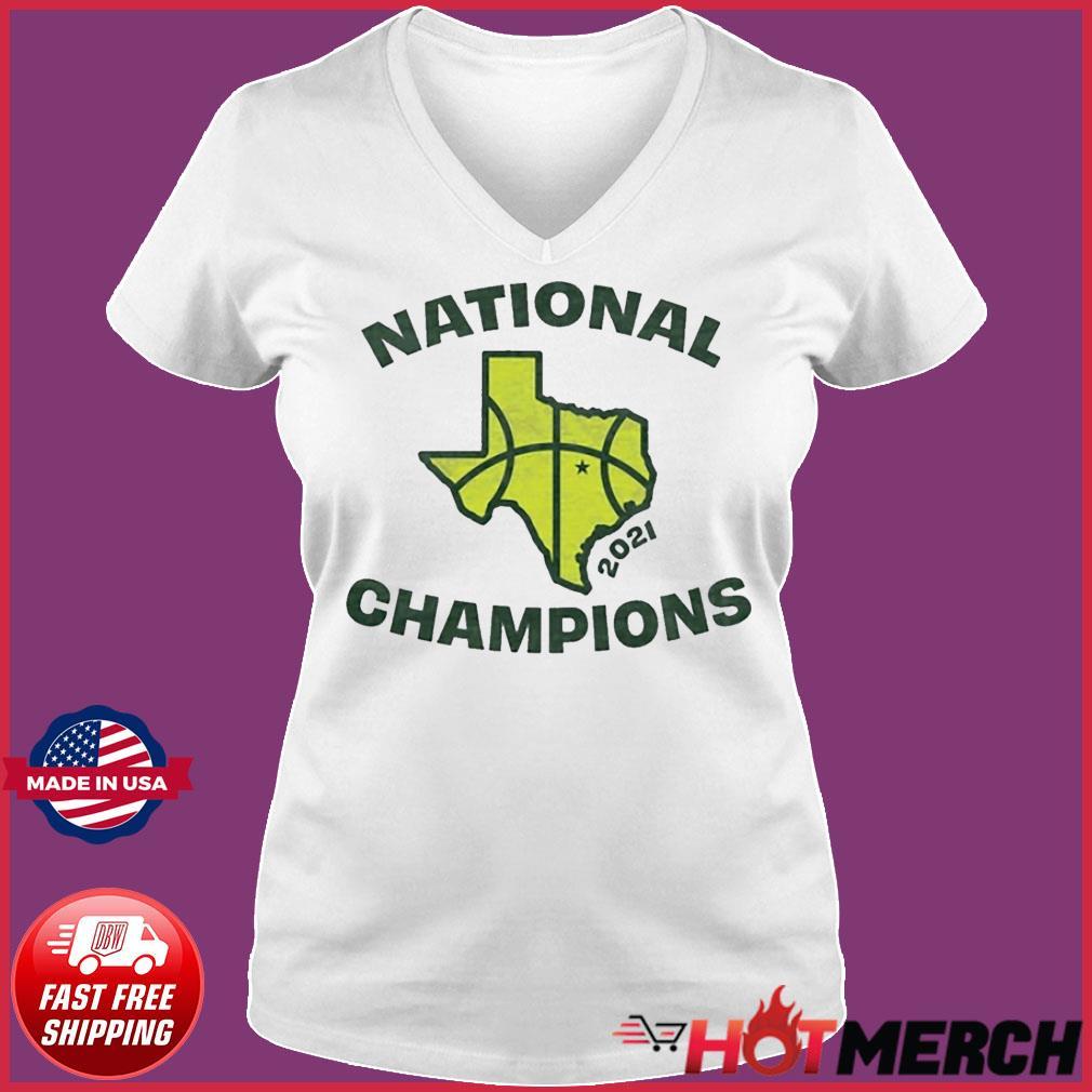Texas Waco National Champions Tee Shirt Ladies V-neck Tee