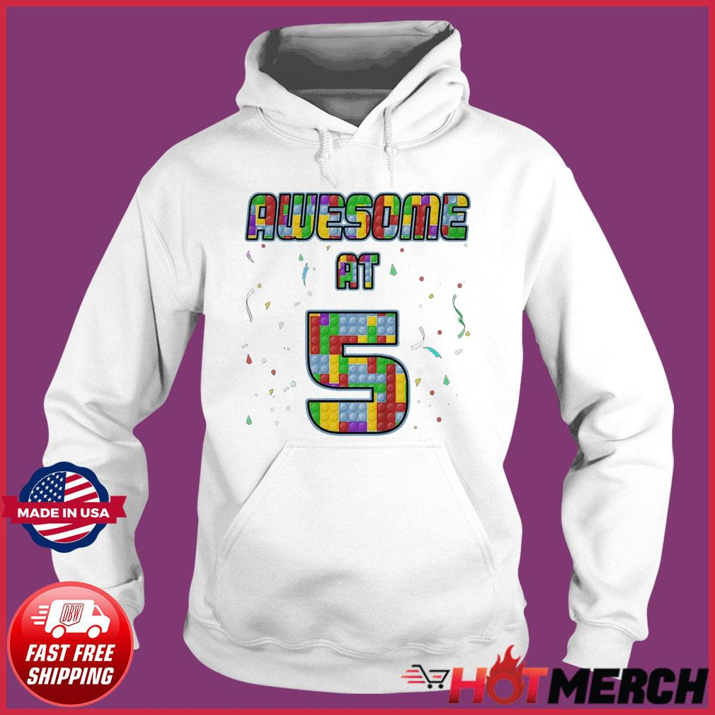 Awesome At 5 Awesome Since 2016 5th Birthday 5 Years Old T-Shirt Hoodie