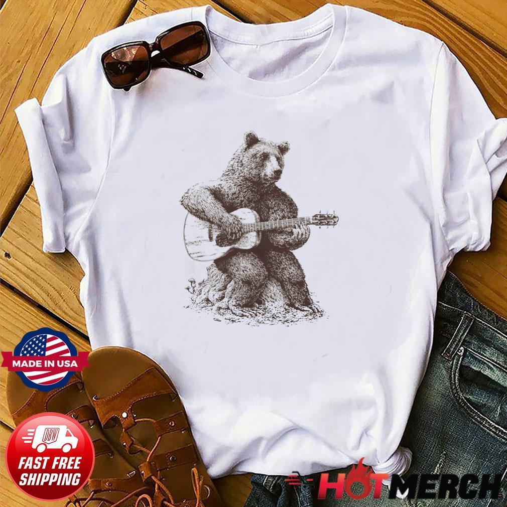 Bear Playing Guitar Classic T-Shirt