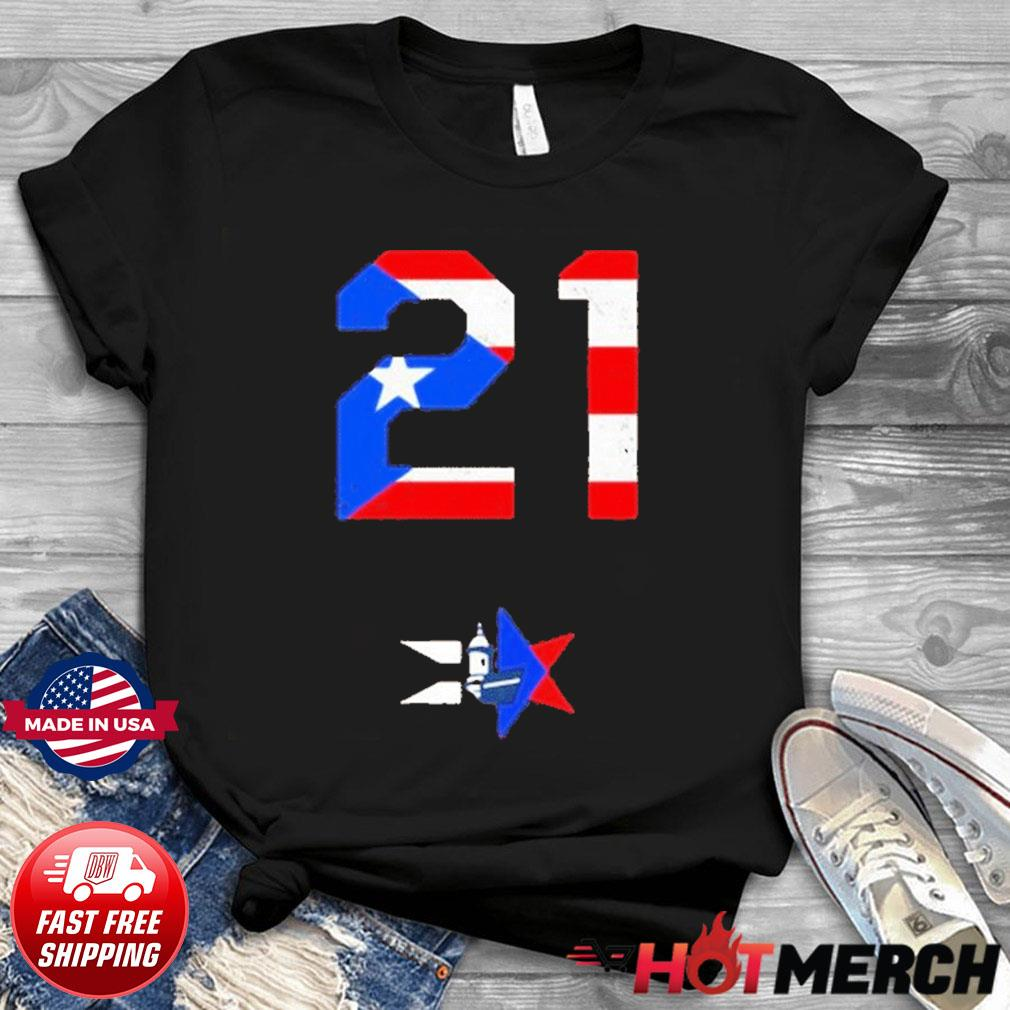 21 Proud For Puerto Rico American Flag Shirt