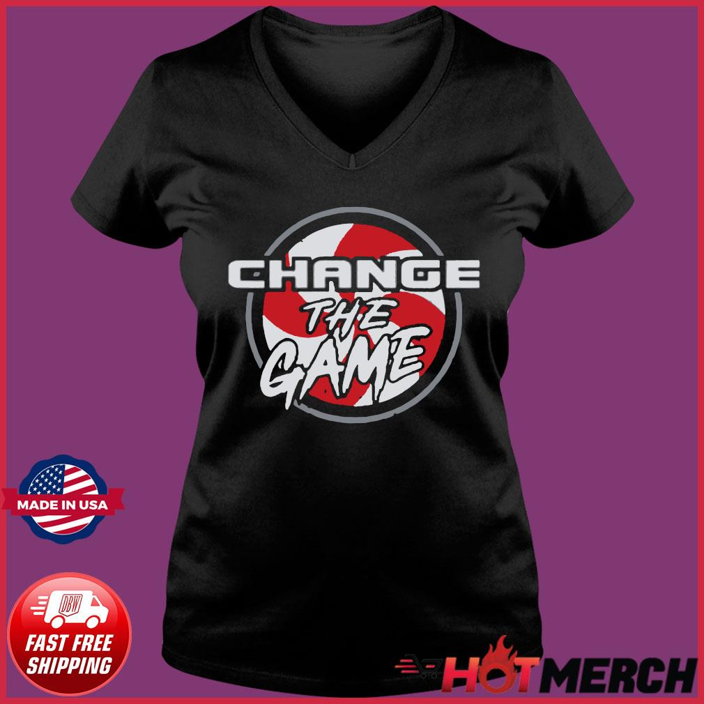 Change The Game T-Shirts Ladies V-neck Tee