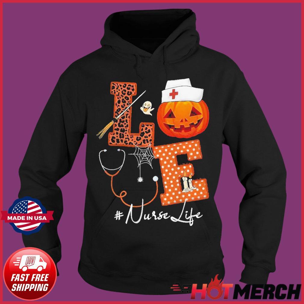 Love Nurse Pumpkin Halloween s Hoodie