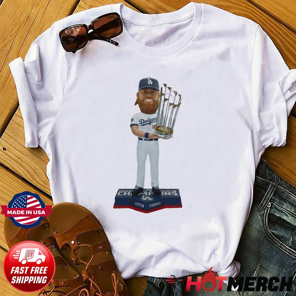 JUSTIN TURNER LOS ANGELES DODGERS 2020 WORLD SERIES CHAMPIONS BOBBLEHEAD SHIRT