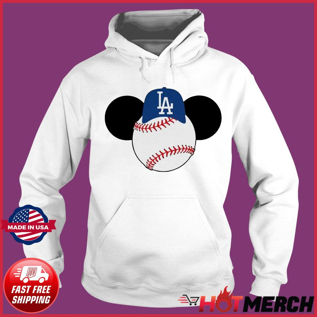 Mickey Mouse Los Angeles LA Dodgers Logo Baseball LA Disney Shirt Hoodie