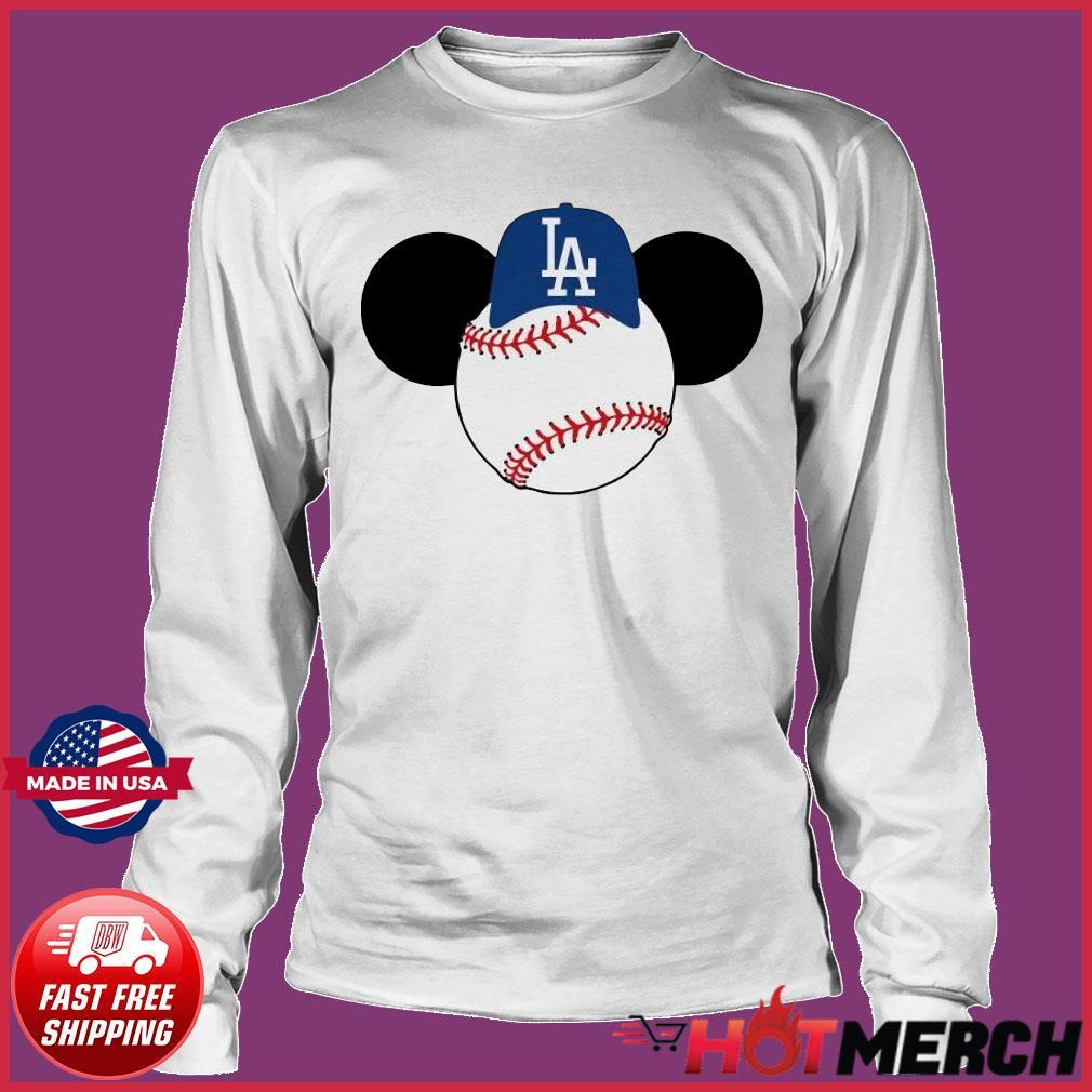 Mickey Mouse Los Angeles LA Dodgers Logo Baseball LA Disney Shirt Long sleeve