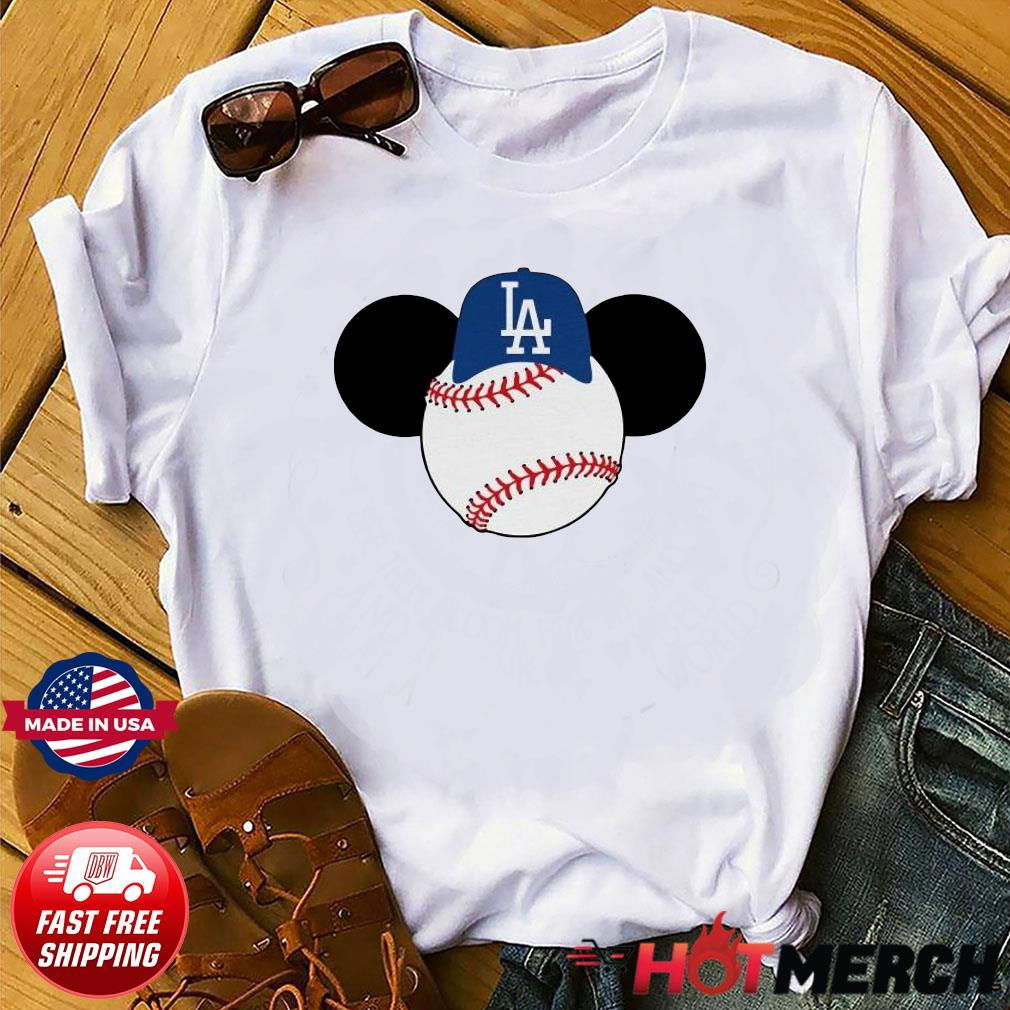 Mickey Mouse Los Angeles LA Dodgers Logo Baseball LA Disney Shirt