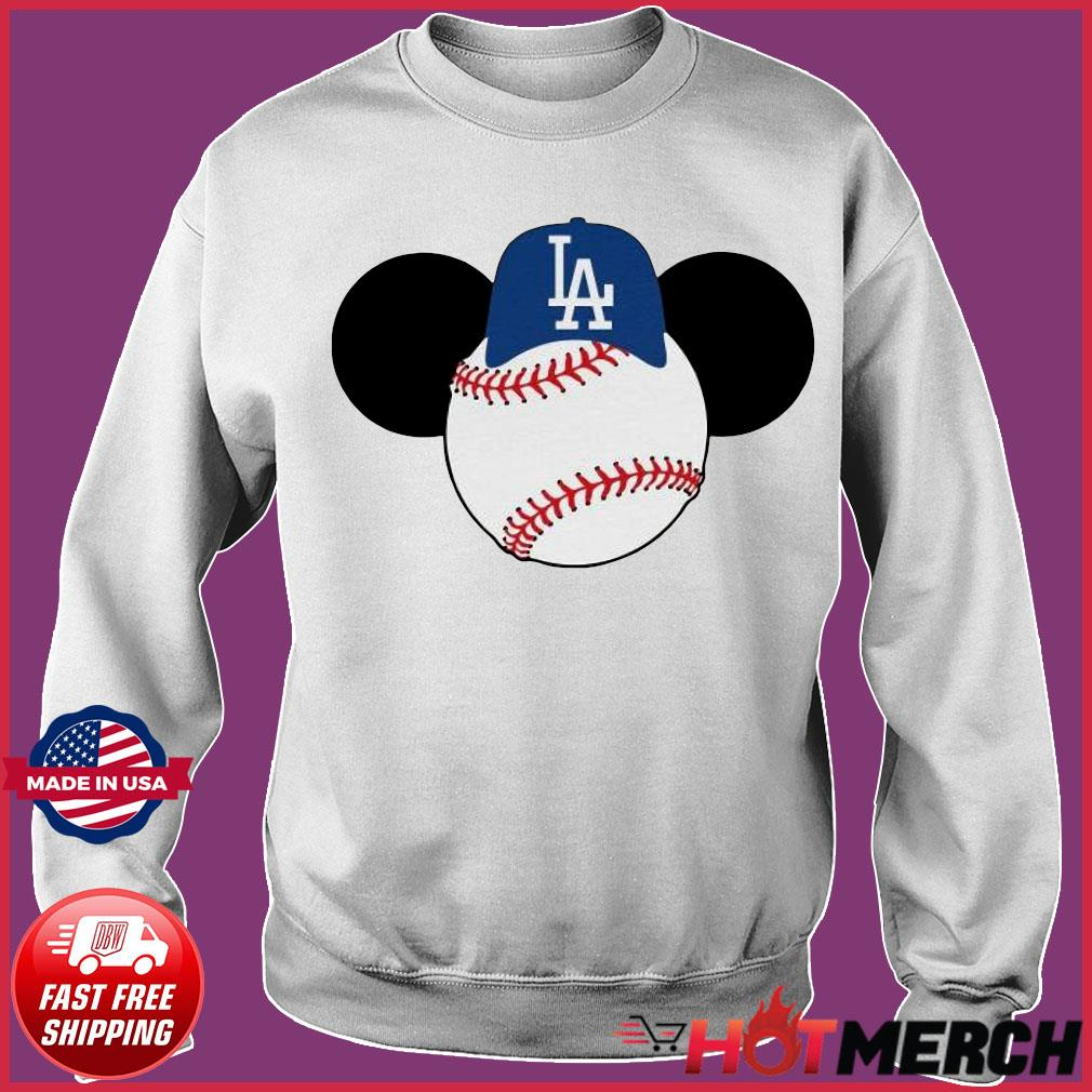 Mickey Mouse Los Angeles LA Dodgers Logo Baseball LA Disney Shirt Sweater