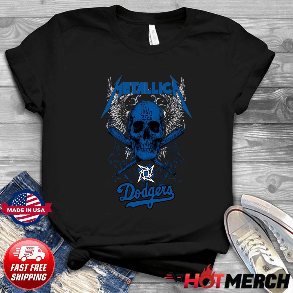 Skull Metallica Baseball Los Angeles Dodgers Shirt