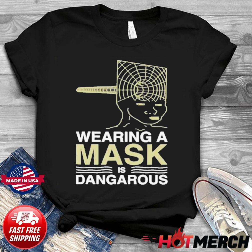 Wearing a mask meme trollface conspiracy theory shirt