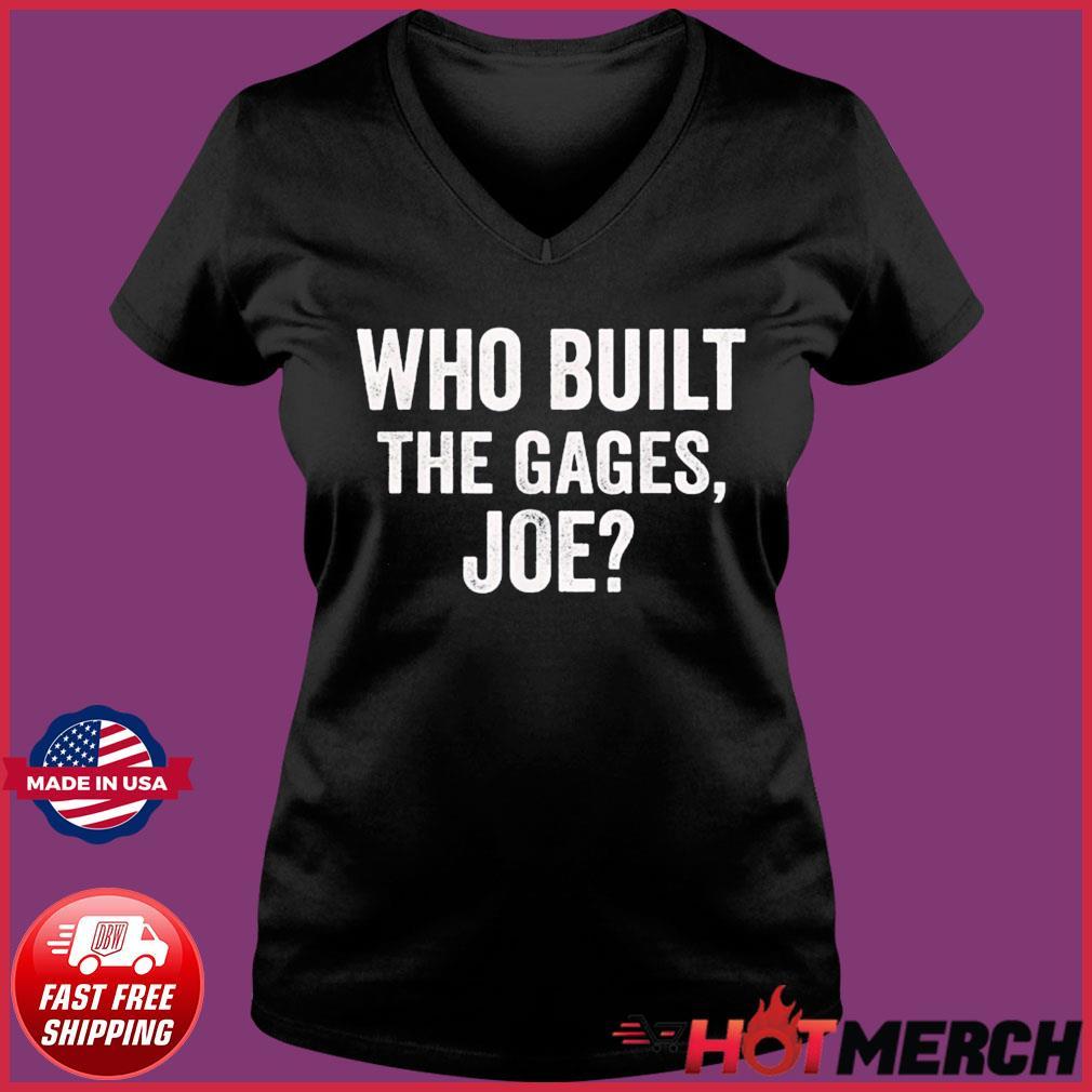 Who Built the Cage Joe Shirt Ladies V-neck Tee