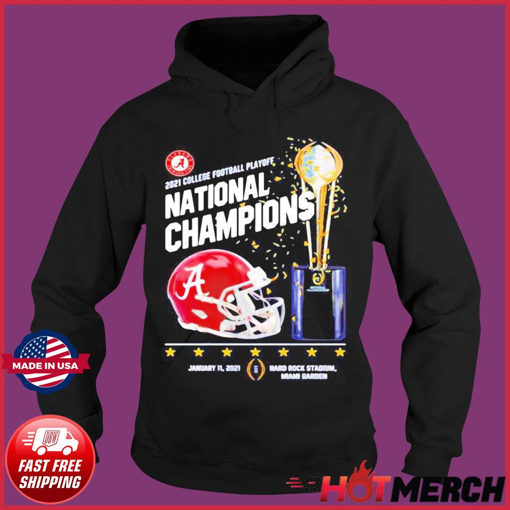 Alabama Crimson Tide 2021 College Football Playoff National Champions Alabama 52 Ohio State 24 Shirt Hoodie