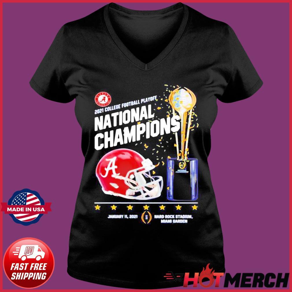 Alabama Crimson Tide 2021 College Football Playoff National Champions Alabama 52 Ohio State 24 Shirt Ladies V-neck Tee