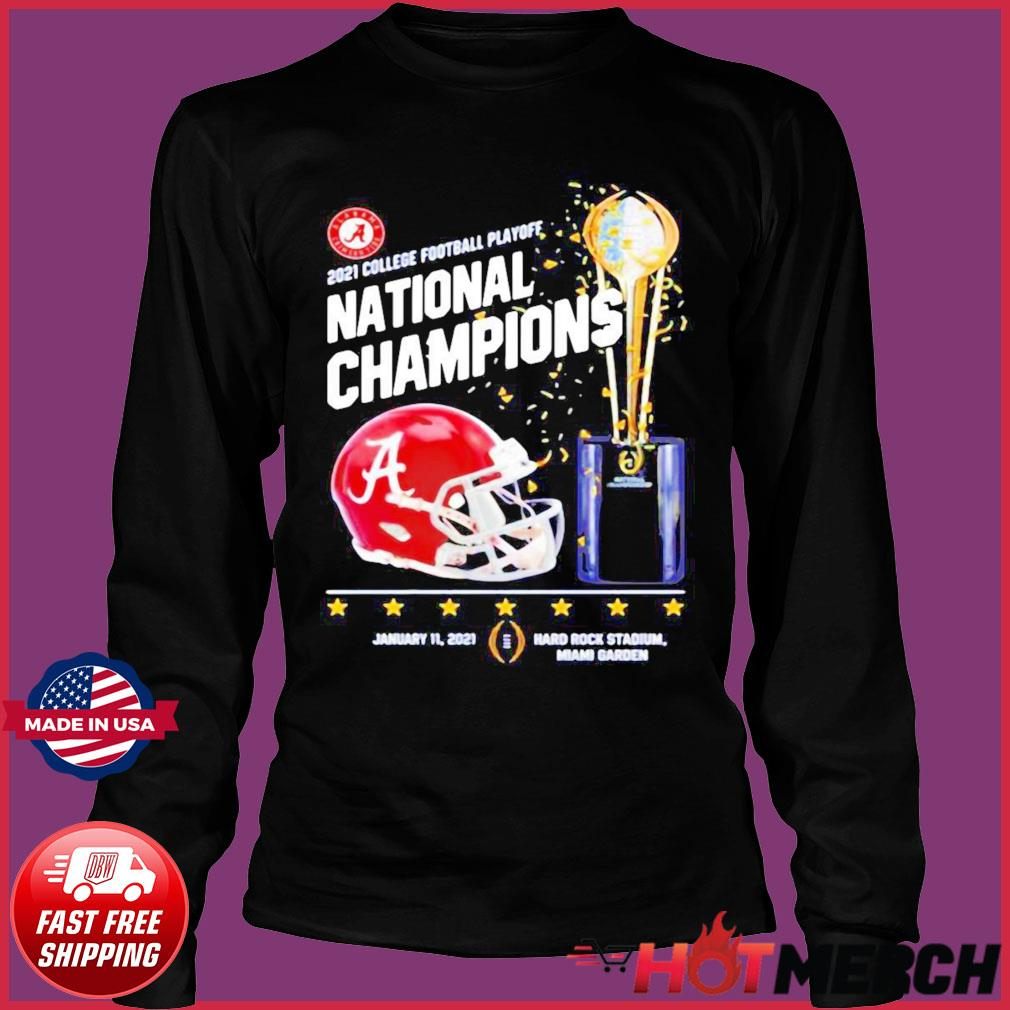 Alabama Crimson Tide 2021 College Football Playoff National Champions Alabama 52 Ohio State 24 Shirt Long Sleeve