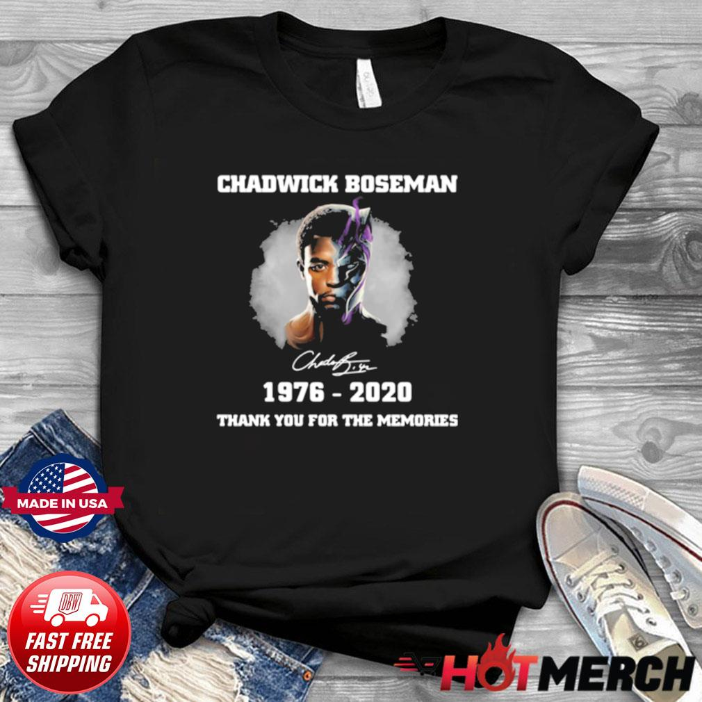 Chadwick Boseman black panther wakanda forever thank you for the memories signature shirt