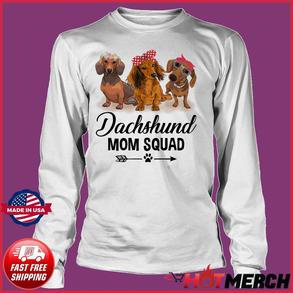Dachshund Dogs Mom Squad 2021 Shirt Long sleeve