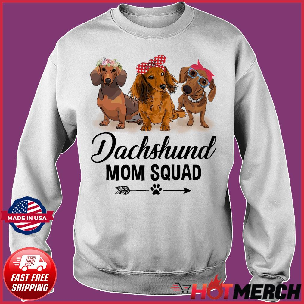 Dachshund Dogs Mom Squad 2021 Shirt Sweater