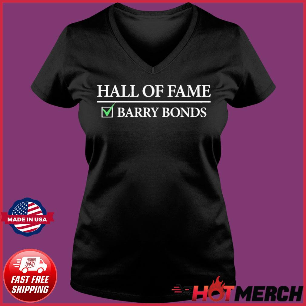 Hall Of Fame Barry Bonds Shirt Ladies V-neck Tee